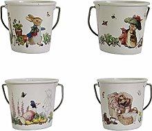 Peter Rabbit Egg Cup Pails Set of 4