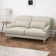 Petersham 2 Seater Sofa Cotton, Silver Cotton, One