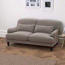 Petersham 3 Seater Soft Velvet Sofa, Silver Grey