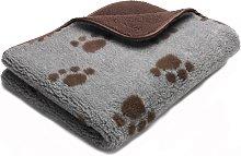 Petface Fleece Sherpa Print Chocolate Pet Comforter