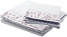 Petit Lazzari Bedding Set Nora White/Pink Cot