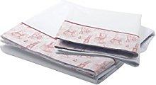 Petit Lazzari Bedding Set Vintage Toys White/Pink