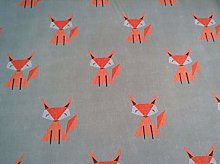 Petite Sion Scandi Fox Orange Grey Green Cotton