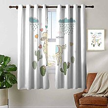 Petpany Bedroom Curtain Llama,Cute Abstract Alpaca