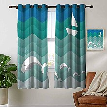 Petpany Bedroom Curtain Nautical,Nautical Theme