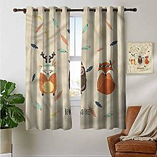 Petpany Bedroom Curtain Woodland,Boho Tribal Owl