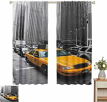 Petpany blackout curtains for bedroom City,Yellow
