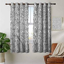 Petpany blackout curtains for bedroom Leaf,Simple
