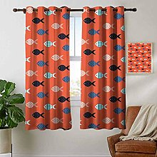 Petpany curtains for bedroom Coral,Fishes Motif