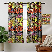 Petpany curtains for bedroom Graffiti,Contemporary