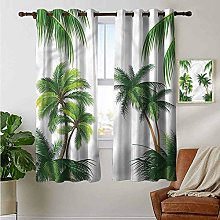 petpany curtains for bedroom Tropical,Coconut Palm