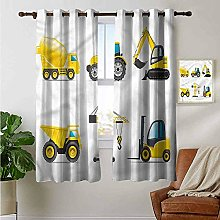 Petpany living room curtains Boys Room,Truck Crane