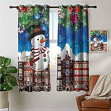 petpany living room curtains Christmas,Snowy City