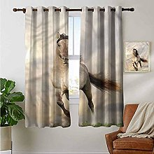 Petpany Window Curtain Fabric Horses,Young