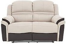 Petra Fabric And Faux Leather 2 Seater Manual