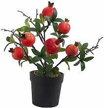 PETSOLA Artificial Fruit Pomegranat Or Lemon Tree
