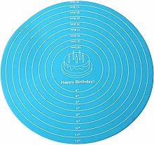 PETSOLA Round Silicone Placemat Cake Mat Counter