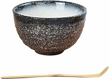 PETSOLA Tea Ceremony Matcha Bowl Bamboo Scoop Set