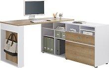 Pettit Wooden Computer Desk In Riviera Oak And