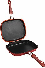 Petyoung 28cm Red Double‑Sided Frying Pan