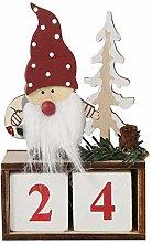 Petyoung Christmas Countdown Calendar Wooden