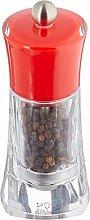 Peugeot 14 cm Molene Pepper Mill Acrylic/ Red