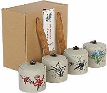 Pevfeciy Mini Tea Storage Containers Tea Tins