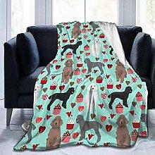 Peyolad Poodles Dogs Printing Blanket Plush Throw