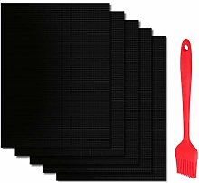 PEYOU [Set of 5 Grill Mat with 20cm Silicone