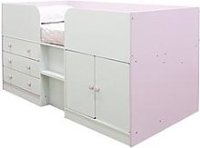 Peyton Kids Cabin Bed with Drawers, Cupboard and