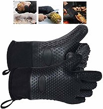 PGE 1 Pair, Black Silicone Oven Gloves,Heat