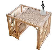 PGKCCNT Japanese-style Rattan Small Coffee Table