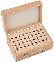 PH PandaHall Wooden Number Alphabet Punch Storage