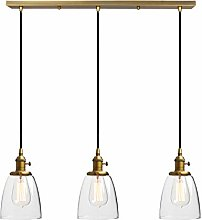 Phansthy Vintage 3 Chandelier Pendant Light with