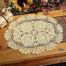 Phantomon Crochet Cotton Lace Placemats Doilies