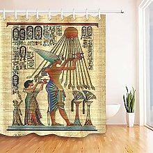 Pharaoh Egyptian Papyrus Shower Curtain HookS