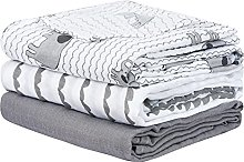 PHF Muslin Baby Swaddle Blankets, 3 Pack Large