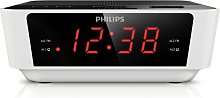 Philips AJ3115 FM Clock Radio - White