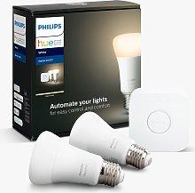 Philips Hue White Wireless Lighting LED Starter