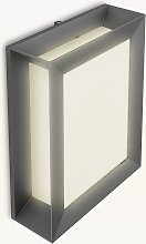 Philips Karp LED Outdoor Wall Light, Anthracite
