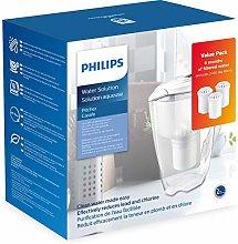 Philips Starter Set Water Filter Jug AWP2920 + 3