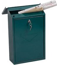 Phoenix Villa MB0114KG Top Loading Mail Box Green,