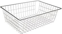 Phoenix Wire basket, silver, 42.7x53x18.5 cm