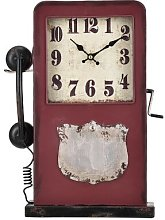 Phone Booth Mantle Clock Williston Forge