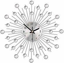 Phonleya Wall Clock Large Diamante Beaded Crystal