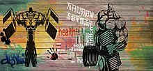 Photo Mural 450x300 cm - 9 Strips Fitness Premium