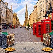 Photo Mural Red Phone Booth Edinburgh 78.7X55.1