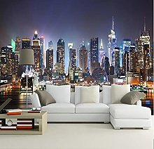 Photo Mural Wallpaper 3D New York City Night