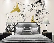 Photo Wallpaper 300x210 cm - 6 Strips Yellow