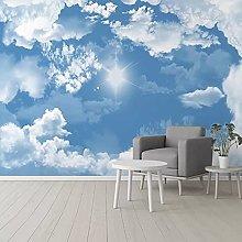 Photo Wallpaper 3D Blue Sky White Cloud Mural